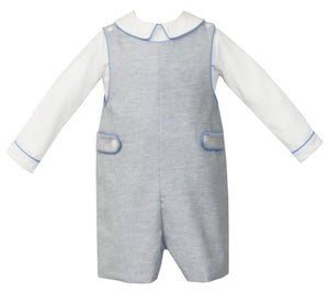 Smocked Shortall with Longsleeve Shirt