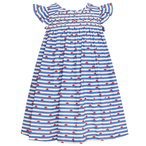 1z 2z 3z Sailboat Print Smocked Flutter Sleeve Dress Anavini Richmond, Virginia