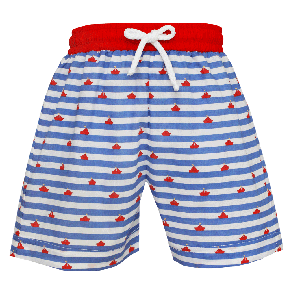 1z 2z 3z Sailboat Print Swim Trunks Anavini Richmond, Virginia