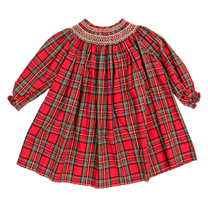1z2z3z tartan plaid bishop dress with white smocking by bailey boys christmas holiday classic childrens boutique style
