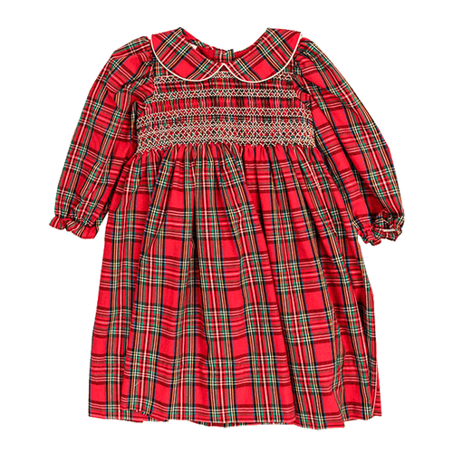 1z 2z 3z tartan plaid peter pan smocked dress by bailey boys christmas holiday plaid classic childrens boutique clothing