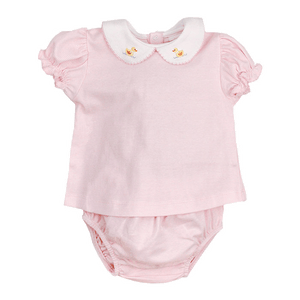 Duck Pink Stripe Diaper Cover