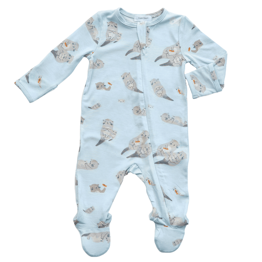 otter zip footie angel dear richmond virginia 1z 2z 3z baby and toddler boutique