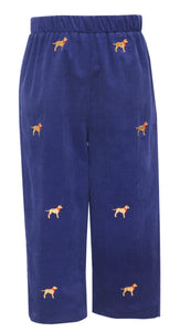 Pull On Pants with Labrador Embroidery