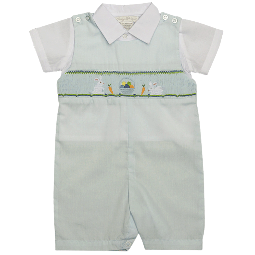 1z 2z 3z Bunny Smocked Jonjon with Shirt Carriage Boutique Richmond, Virginia