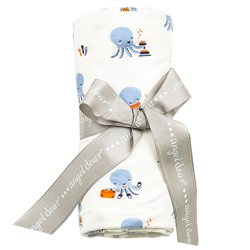 Octopus Playtime Modal Swaddle Blanket