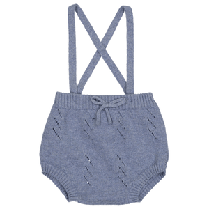 Heather Blue Suspender Bloomer