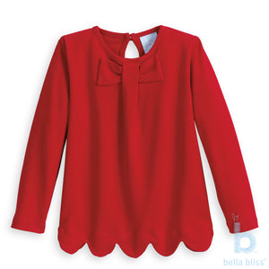 Blaine Pima Blouse in Red