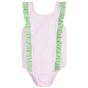 Flutter One Piece in Pink and Green