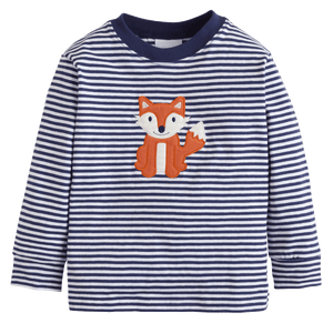 1z 2z 3z Little English Fox Applique T Shirt classic children toddler classic clothing boutique