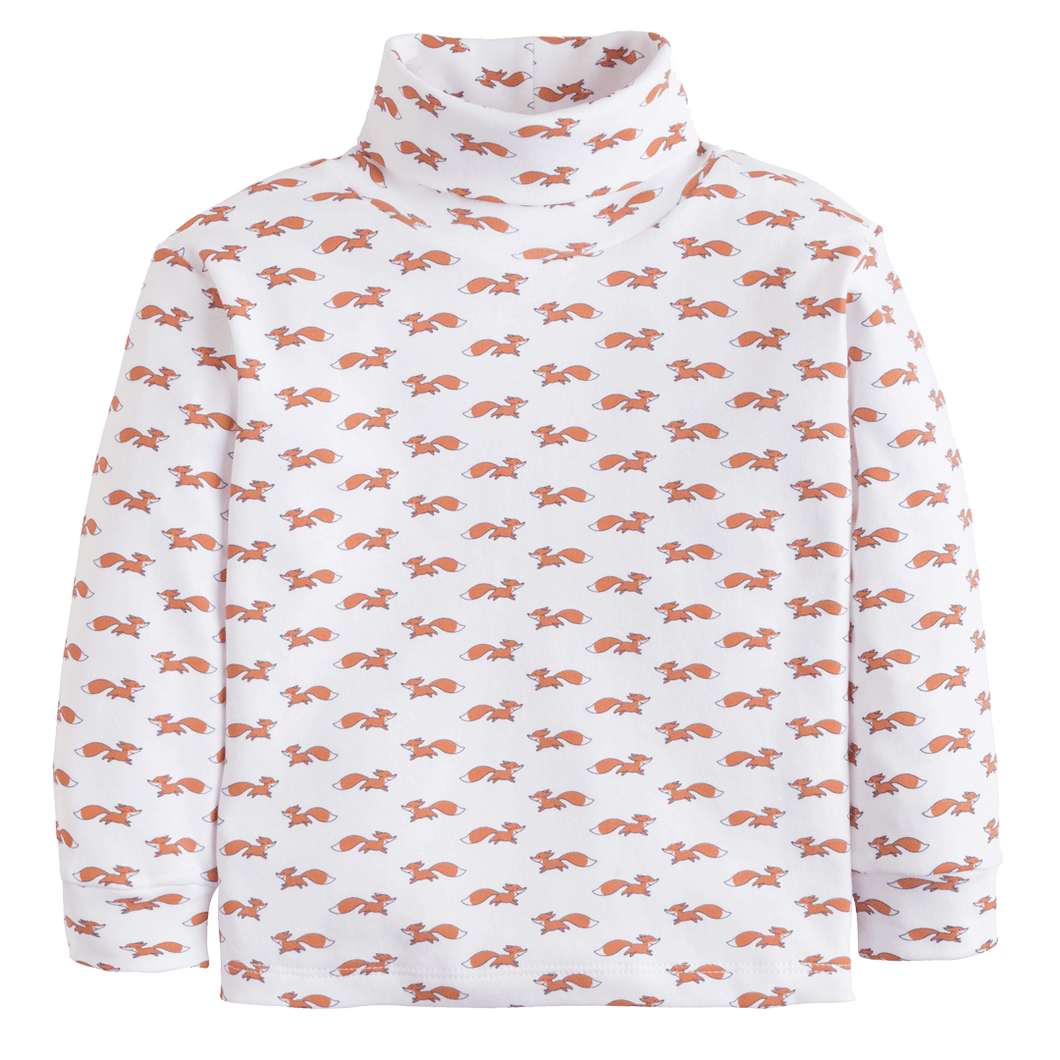 1z 2z 3z Fox printed turtleneck little english classic toddler and childrens clothing