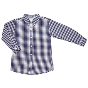 1z 2z 3z basic boy royal check button down childrens toddler boutique clothing