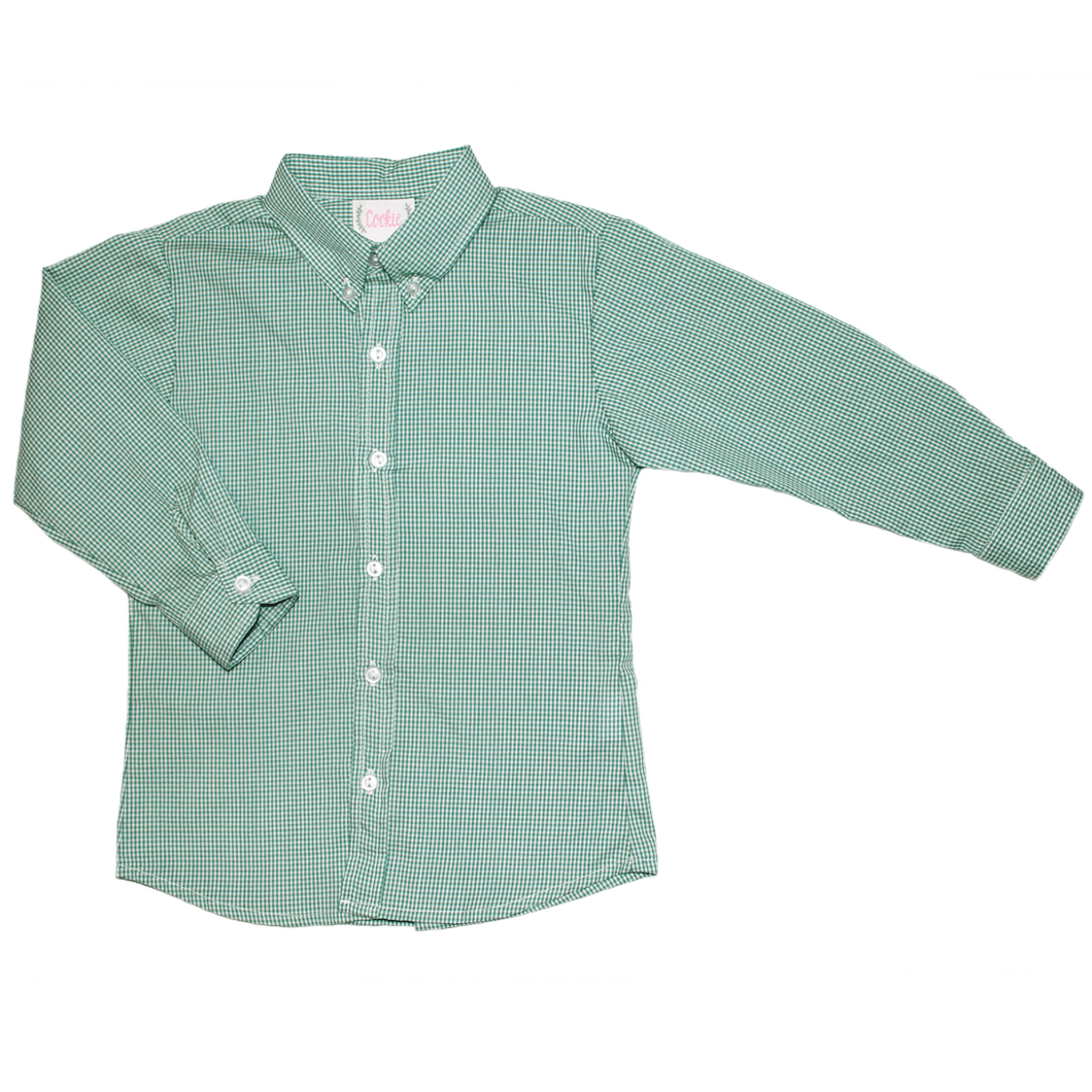 1z 2z 3z christmas green check button down shirt boy clothing