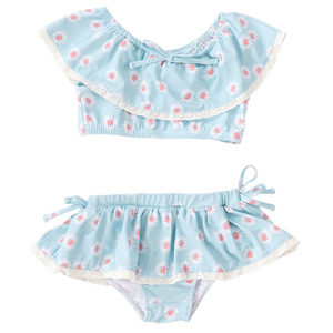 blue daisies charming mary two piece swim