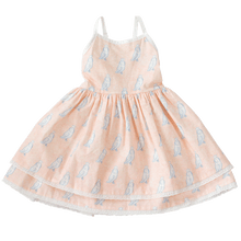 Daisy Dress with Pink and Gray Owls