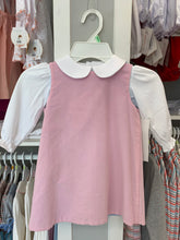 Basic Girl Ensley Dress in Corduroy Cloud with Pink