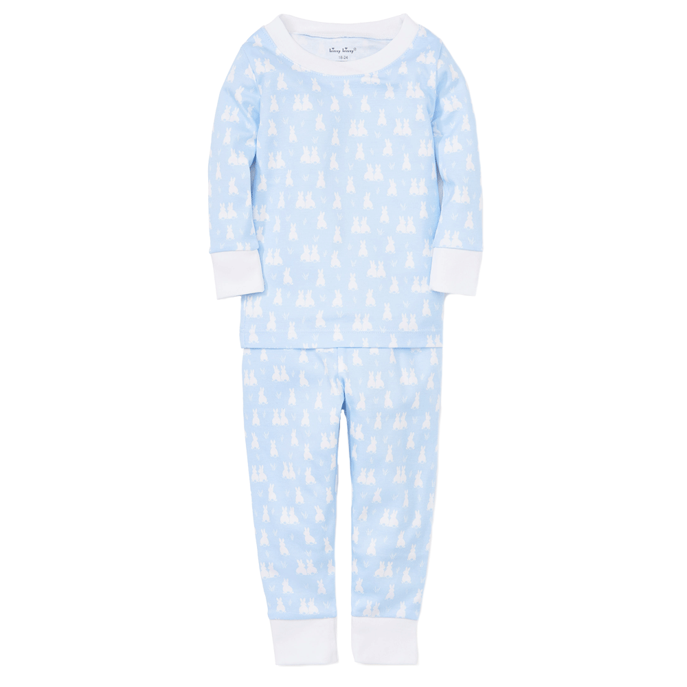 Blue Cushy Cottontails Pajama Set