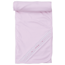 Fall Pink Blanket with Hand Smocking