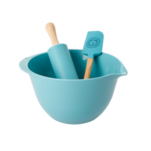 Kids Baking Set in Blue with Lion Head