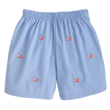 Flag Embroidered Shorts