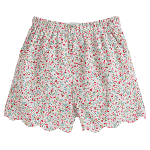 Ditsy Floral Scallop Short