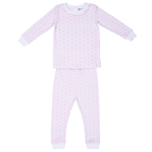 Ava Pink Bow Pajama Set Lila and Hayes children toddler baby boutique clothing
