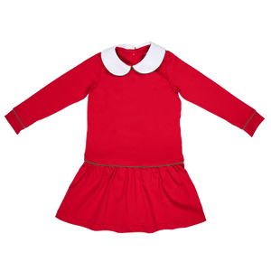 Lillian Red Dress Holiday Lila and Hayes classic children toddler girl clothing
