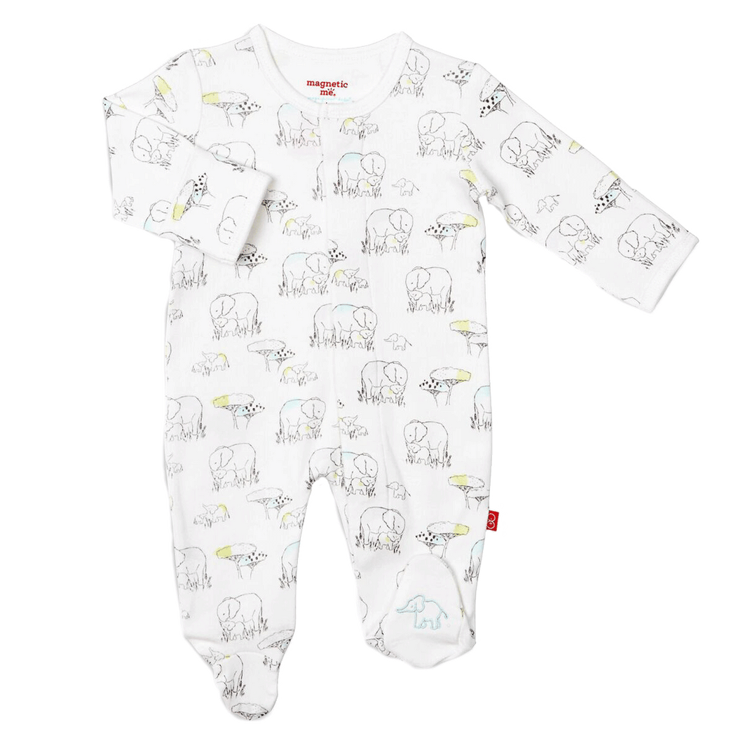 Magnetic Me/™ 100/% Organic Cotton Magnetic Baby Footie