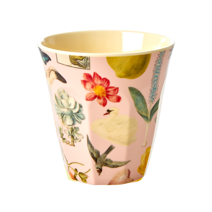 Melamine Cup with Pink Art Print