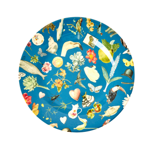 Melamine Side Plate with Blue Art Print