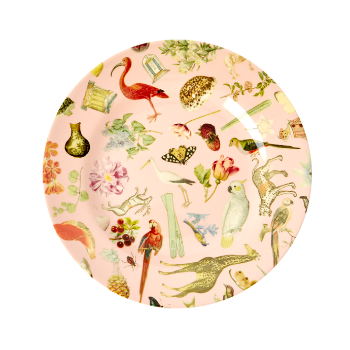 Melamine Side Plate with Pink Art Print