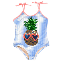 Flip Sequins One Piece in Pineapple Stripe