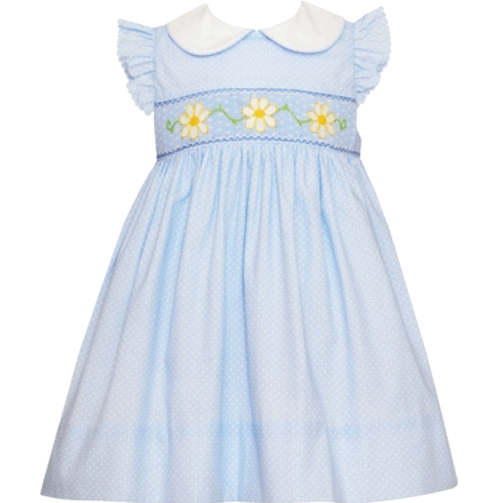 Light Blue Daisies Dress