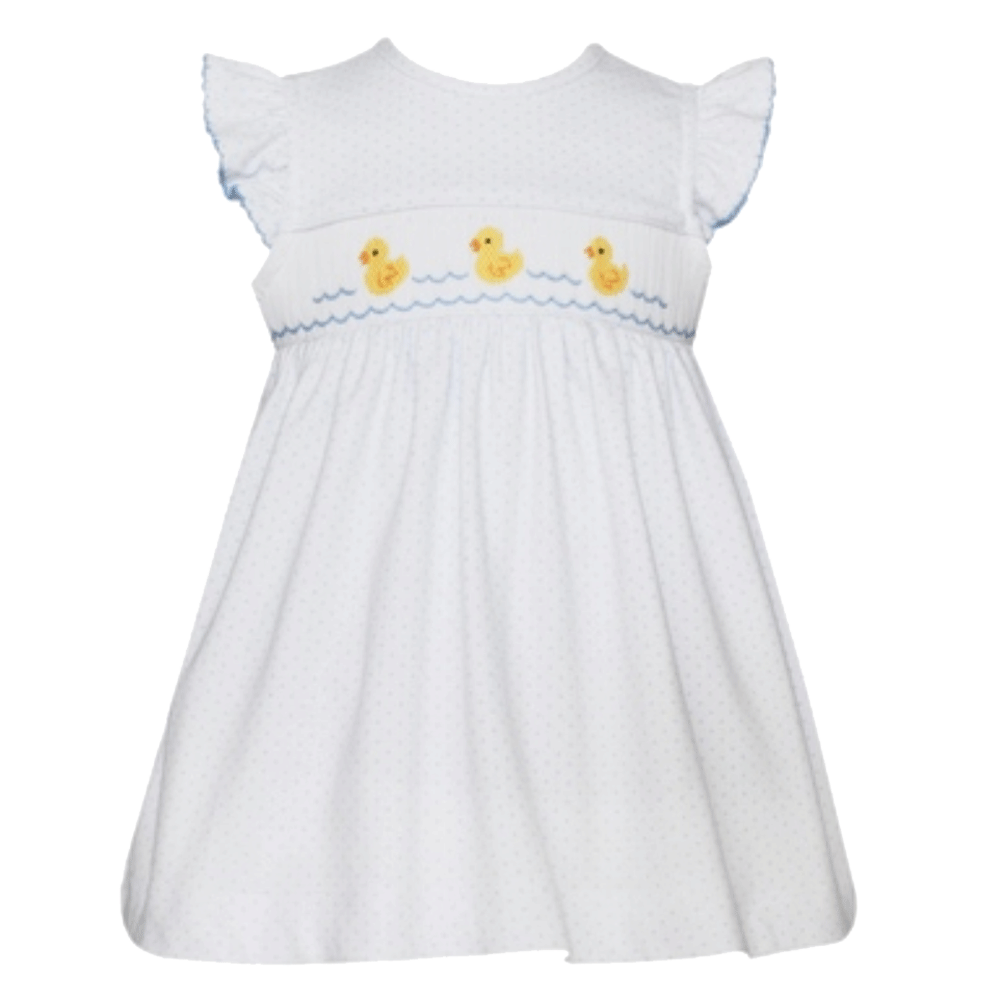 Baby Ducks Dress with Ruffle Sleeves