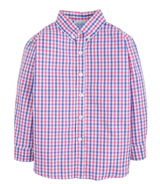Button Down Shirt in Bar Harbor Gingham