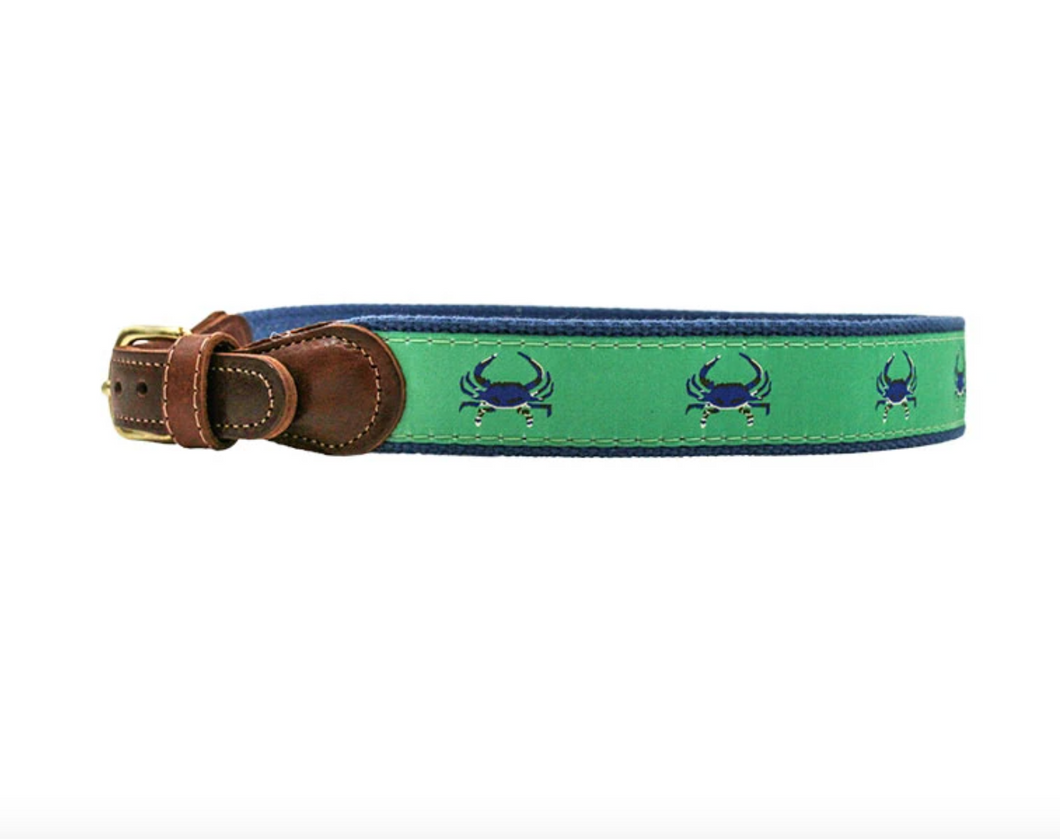 Buddy Belt in Crab on Green