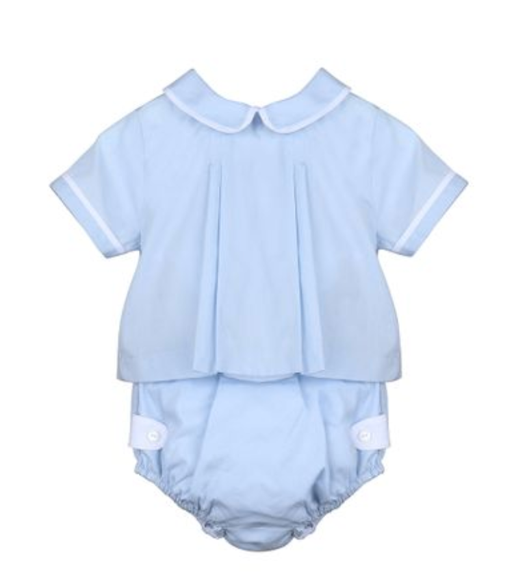 Classic Blue Two Piece Diaper Set