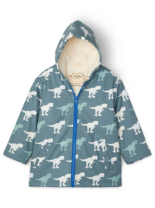 T-Rex Sherpa Lined Color Changing Raincoat