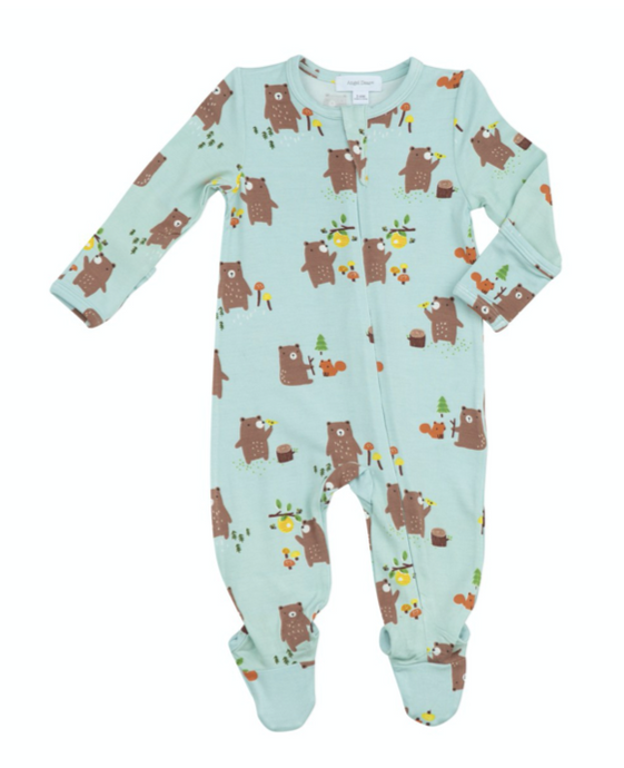 Wild Wild West Baby Bears Zipper Footie