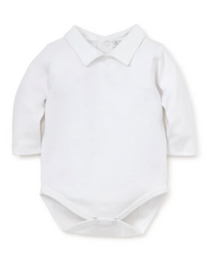 boy smooth classic collar long sleeve bodysuit