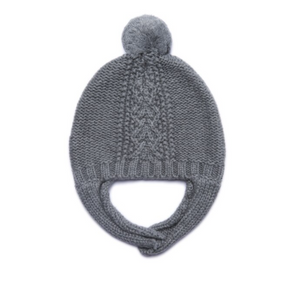 Grey Cable Knit  Hat
