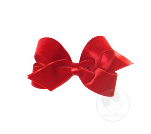 Large Velvet Basic Bow