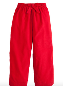 Bow Pant in Red Corduroy