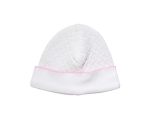 Basket Weave Hat with Picot Trim