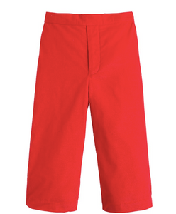 Pull on Pant in Red Corduroy