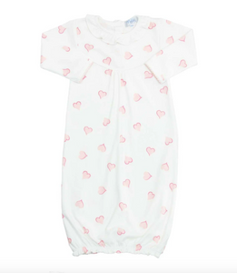 Heart Print Baby Converter Gown
