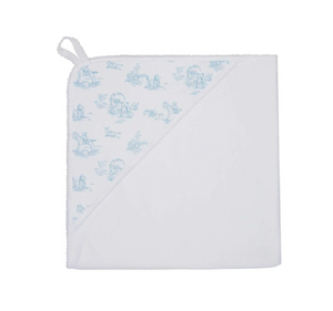 Blue Toile Hooded Towel