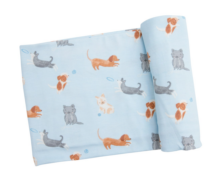 Puppy Play Blue Swaddle
