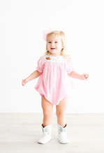 Rodeo Smocked Bubble in Light Pink Gingham