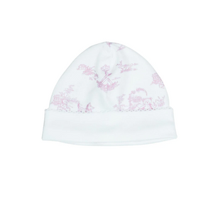 Pink Toile Hat